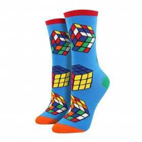 Kubus sokken blauw