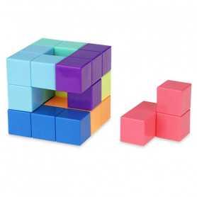 Magnetische Puzzel Kubus Pastel